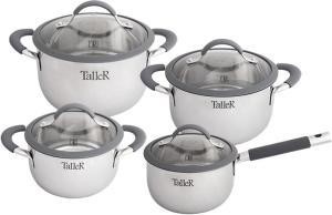 Фото набора посуды TalleR Мэриден TR-7160 из нержавеющей стали