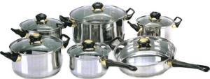 Фото набора посуды Irit IRH-1201 из нержавеющей стали