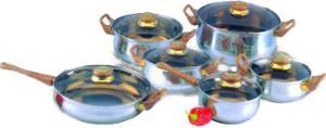 Фото набора посуды Irit IRH-1202 из нержавеющей стали
