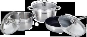 Фото набора посуды SUPRA YUMI new SYS-N0647Kit из нержавеющей стали