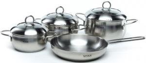 Фото набора посуды Vitax Rochester VX-5005 из нержавеющей стали