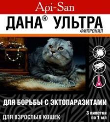 Капли на холку Апи-Сан ДАНА-УЛЬТРА для кошек SotMarket.ru 210.000