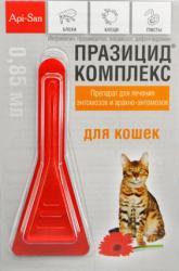 Капли на холку Апи-Сан ПРАЗИЦИД-КОМПЛЕКС для кошек SotMarket.ru 570.000