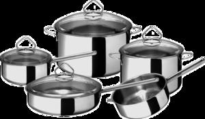 Фото набора посуды Гурман Стекло 441700 из нержавеющей стали