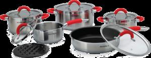 фото Набор посуды SUPRA HITOMI red SHS-N1157Kit red