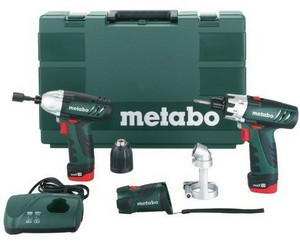 Фото гайковерта Metabo PowerImpact 12 + PowerMaxx 12 685018000