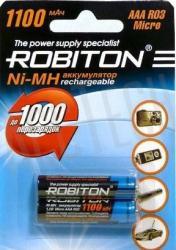 Фото аккумуляторной батарейки Robiton 1100MHAAA-2