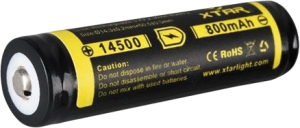 Фото аккумуляторной батарейки Xtar 14500 800mAh