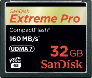 Фото флеш-карты SanDisk CF 32GB Extreme Pro 160MB/s
