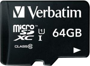 фото Verbatim MicroSDXC 64GB Class 10 + SD адаптер