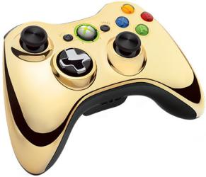 Джойстик для Microsoft Xbox 360 43G-00055 Chrome Gold