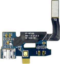 фото Разъем (коннектор) MicroUSB для Samsung N7100 Galaxy Note 2 со шлейфом ORIGINAL