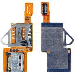 фото Шлейф для Sony Ericsson W902 с разъемами SIM и карты памяти