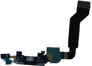 фото Шлейф для Apple iPhone 4S с коннекторами, разъёмом зарядки и микрофоном