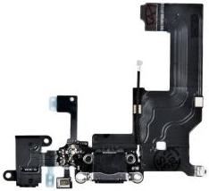 фото Шлейф для Apple iPhone 5 с разъемами зарядки и гарнитуры, микрофоном и антенной