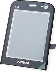 Фото защитного стекла для Nokia N78 с установочной рамкой