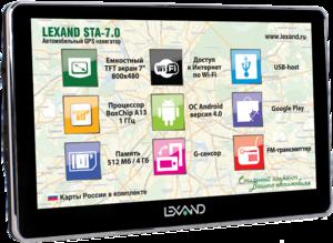 фото GPS навигатор Lexand STA-7.0