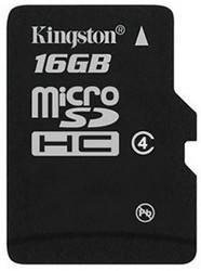 фото Карта памяти Карта памяти Kingston MicroSDHC 16GB Class 4