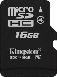 фото Карта памяти Карта памяти Kingston MicroSDHC 16GB Class 4 SDC4/16GB