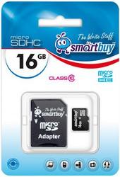 фото Карта памяти Карта памяти SmartBuy MicroSDHC 16GB Class 10 + SD adapter
