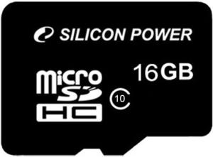 фото Карта памяти Карта памяти Silicon Power MicroSDHC 16GB Class 10 NO Adp Retail