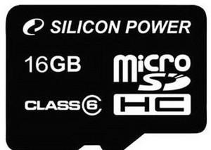 фото Карта памяти Карта памяти Silicon Power MicroSDHC 16GB Class 6