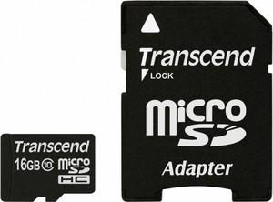 фото Карта памяти Карта памяти Transcend MicroSDHC 16GB Class 10 TS16GUSDHC10 + SD adapter
