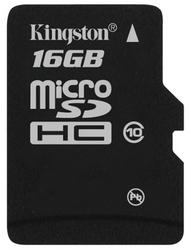 Фото флеш-карты Kingston MicroSDHC 16GB Class 10 SDC10/16GBSP