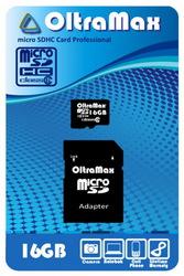 фото Карта памяти Карта памяти OltraMax MicroSDHC 16GB Class 6 + SD adapter