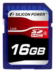 фото Карта памяти Карта памяти Silicon Power SD SDHC 16GB Class 4