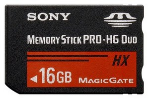 фото Карта памяти Карта памяти Sony Memory Stick PRO-HG DUO 16GB MS-HX16B/T1