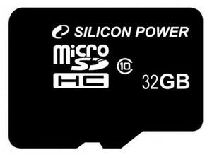 фото Карта памяти Карта памяти Silicon Power MicroSDHC 32GB Class 10