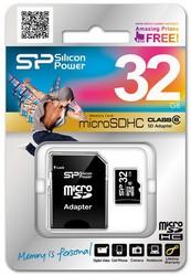 фото Карта памяти Карта памяти Silicon Power MicroSDHC 32GB Class 6 + SD adapter