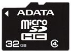 фото Карта памяти Карта памяти ADATA MicroSDHC 32GB Class 4 + SD adapter