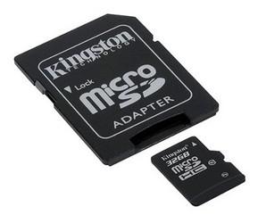 фото Карта памяти Карта памяти Kingston MicroSDHC 32GB Class 10 + SD adapter SDC10/32GB