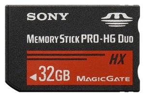 фото Карта памяти Карта памяти Sony Memory Stick PRO-HG DUO 32GB MS-HX32BK