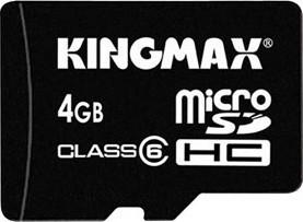 фото Карта памяти Карта памяти Kingmax MicroSDHC 4GB Class 6 + SD adapter