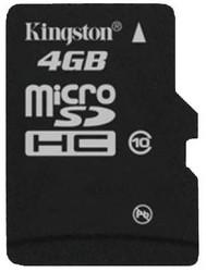 фото Карта памяти Карта памяти Kingston MicroSDHC 4GB Class 10 SDC10/4GBSP