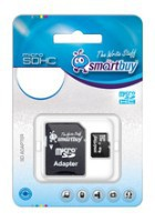 фото Карта памяти Карта памяти SmartBuy MicroSDHC 4GB Class 10 + SD adapter