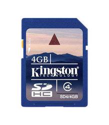 фото Карта памяти Карта памяти Kingston SD SDHC 4GB Class 4
