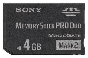 фото Карта памяти Карта памяти Sony Memory Stick PRO DUO 4GB MS-MT4GN
