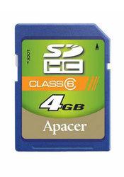 фото Карта памяти Карта памяти Apacer SD SDHC 4GB Class 6
