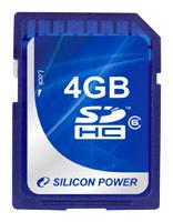 фото Карта памяти Карта памяти Silicon Power SD SDHC 4GB Class 6