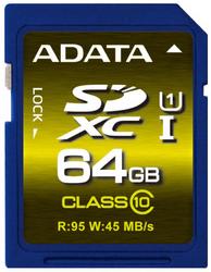 фото Карта памяти Карта памяти ADATA SDXC 64Gb Class 10 Premier Pro UHS-I U1