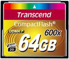Фото флеш-карты Transcend CF 64GB 600x