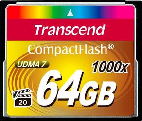 Фото флеш-карты Transcend CF 64GB 1000x TS64GCF1000