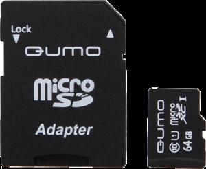 фото Карта памяти Карта памяти Qumo microSDXC 64GB Class 10 + SD adapter