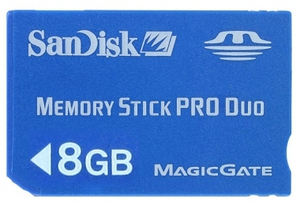 фото Карта памяти Карта памяти SanDisk Memory Stick PRO DUO 8GB