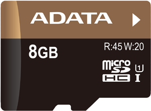 фото Карта памяти Карта памяти ADATA MicroSDHC 8GB Class 10 Premier Pro UHS-I U1 + SD adapter