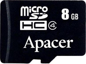 Фото флеш-карты Apacer MicroSDHC 8GB Class 4 + SD adapter